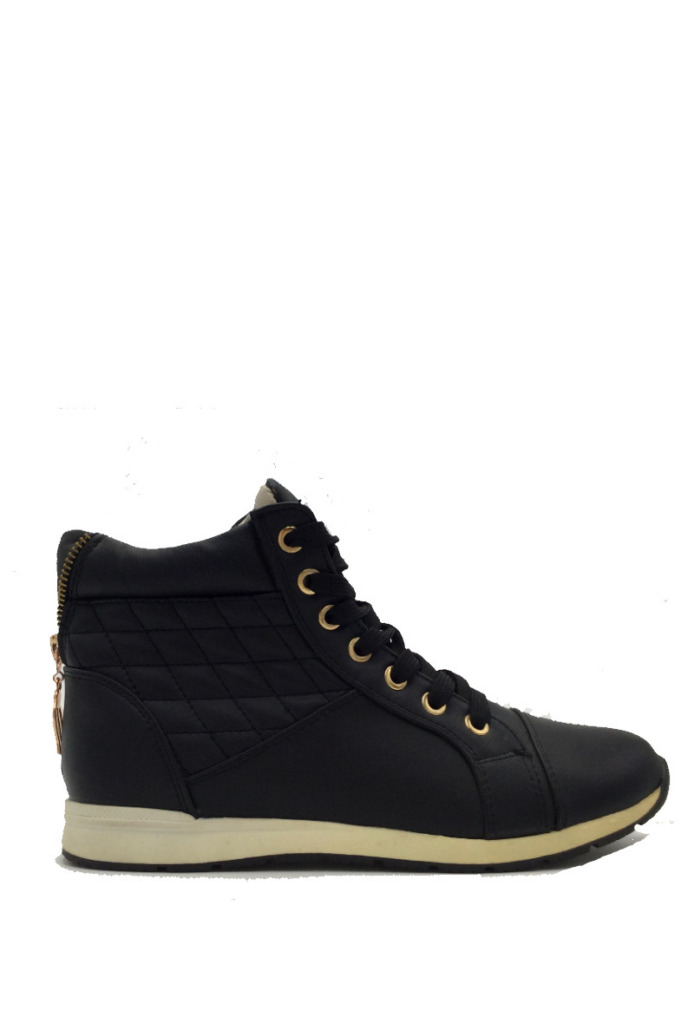 High Sneakers Black&Gold2
