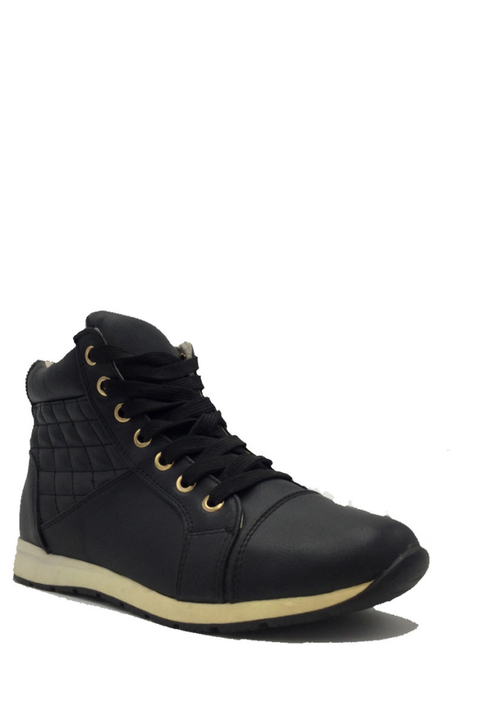 High Sneakers Black&Gold1